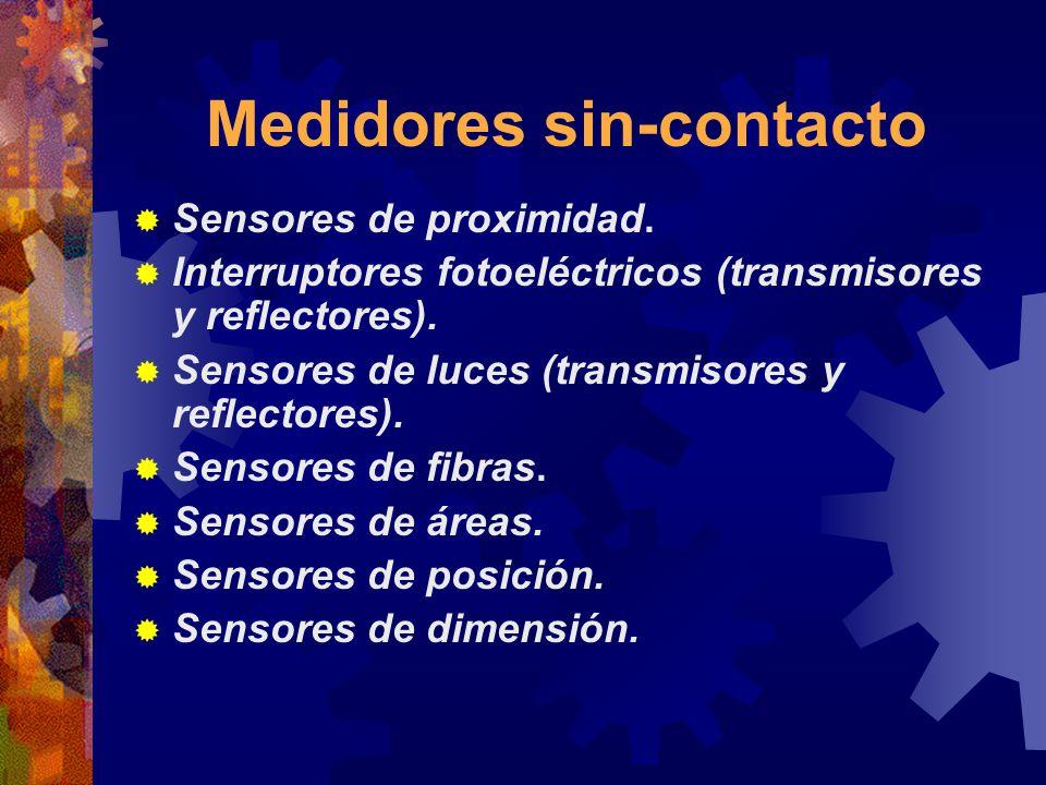 Medidores sin-contacto Sensores de proximidad. Interruptores fotoeléctricos (transmisores y reflectores). Sensores de luces (transmisores y reflectore
