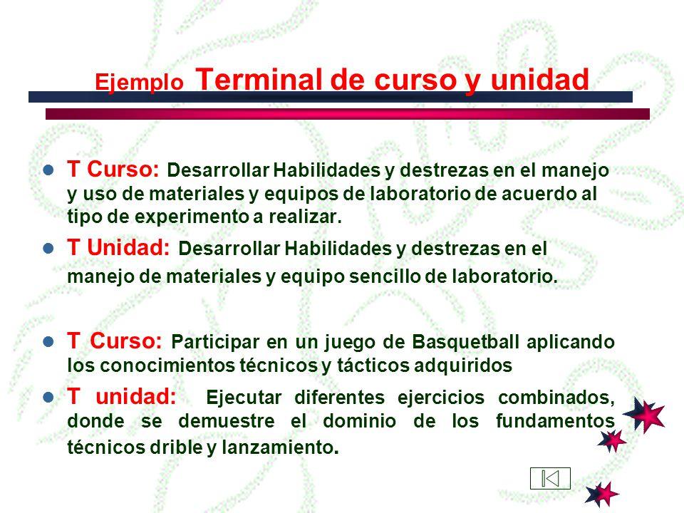 Ejemplo objetivo Permanente Hacer uso adecuado del tiempo libre mediante la práctica de sus deportes favoritos.