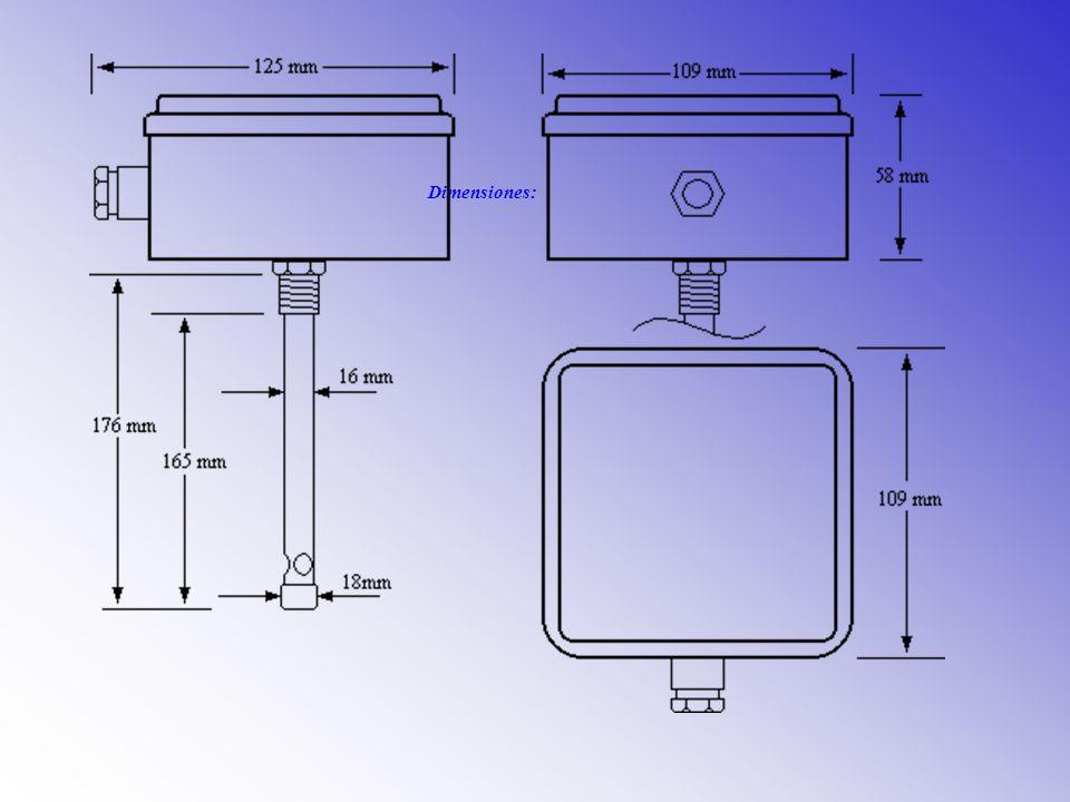 Conexionado: En la propia tapa de la caja estanca, hay una pegatina donde se indica el conexionado correcto del convertidor.