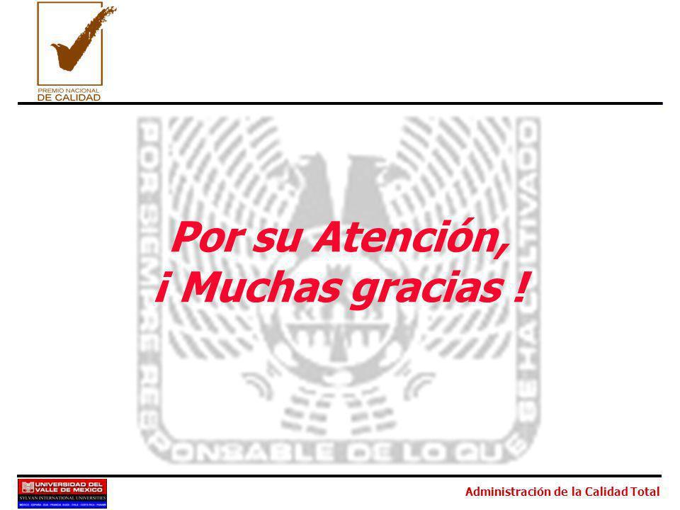 Administración de la Calidad Total Por su Atención, ¡ Muchas gracias !
