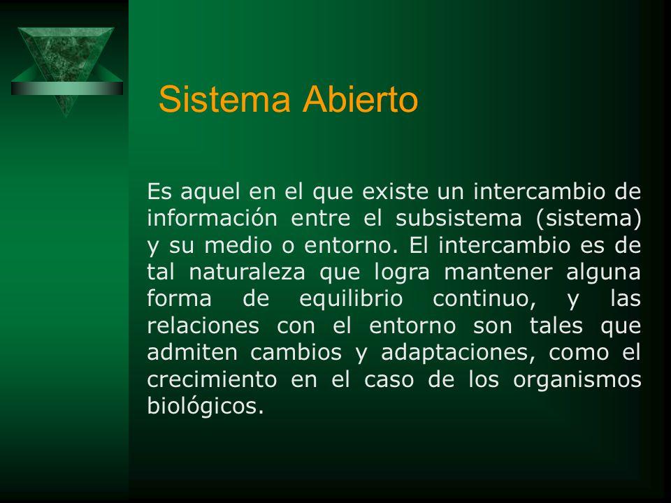 TIPOS DE SISTEMAS Bertalanffy, entre otras muchas cosas, dice lo siguiente de los sistemas abiertos y cerrados: