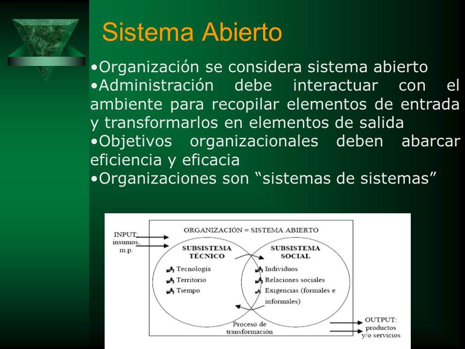 Es aquel en el que existe un intercambio de información entre el subsistema (sistema) y su medio o entorno. El intercambio es de tal naturaleza que lo