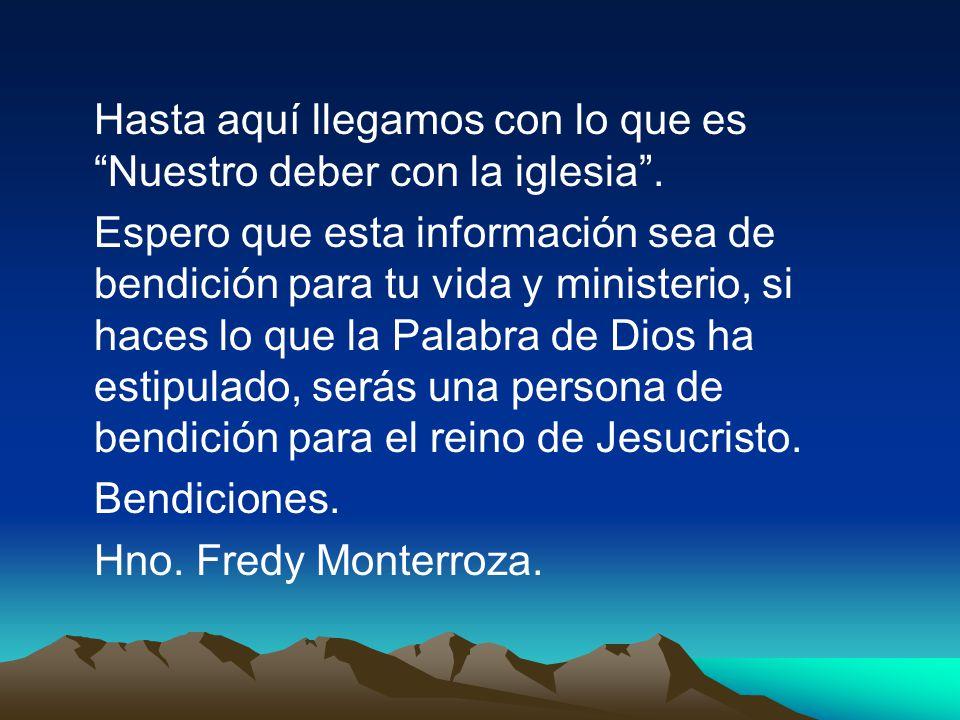 El Resultado de Diezmar es la Bendición Dios promete bendecir a todos los que diezman en obediencia y con alegría.