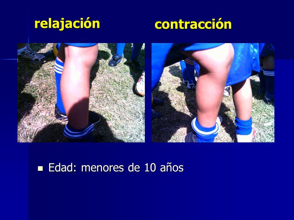 Edad: menores de 10 años Edad: menores de 10 años relajación contracción