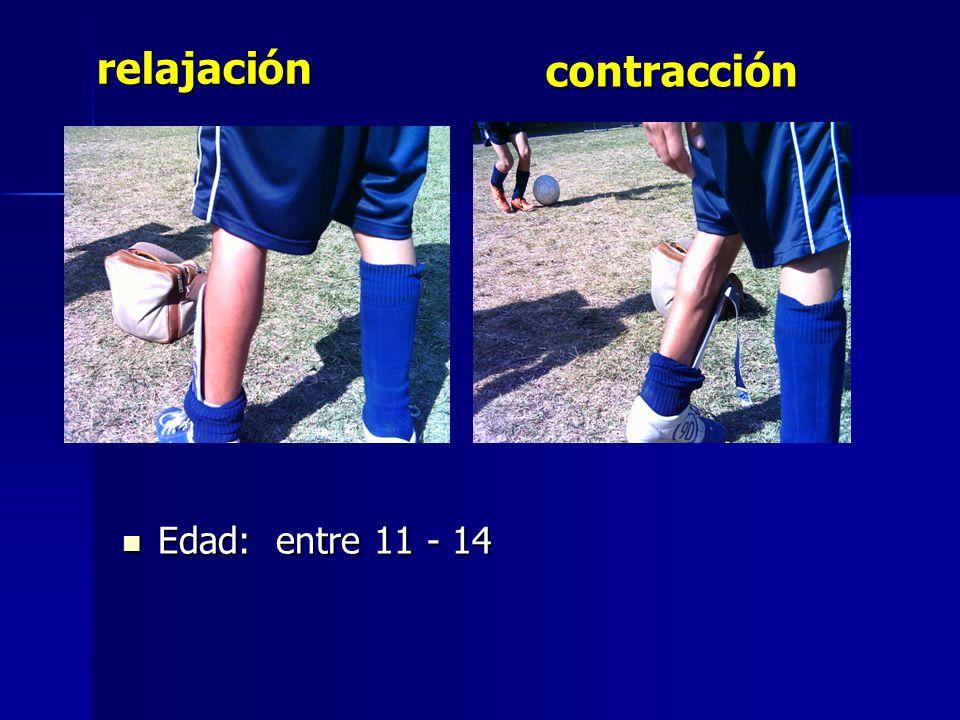 Edad: entre 11 - 14 Edad: entre 11 - 14 contracción relajación