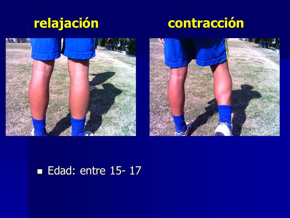 contracción Edad: entre 15- 17 Edad: entre 15- 17 relajación