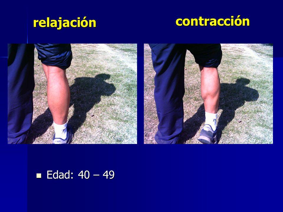 contracción Edad: 40 – 49 Edad: 40 – 49 relajación
