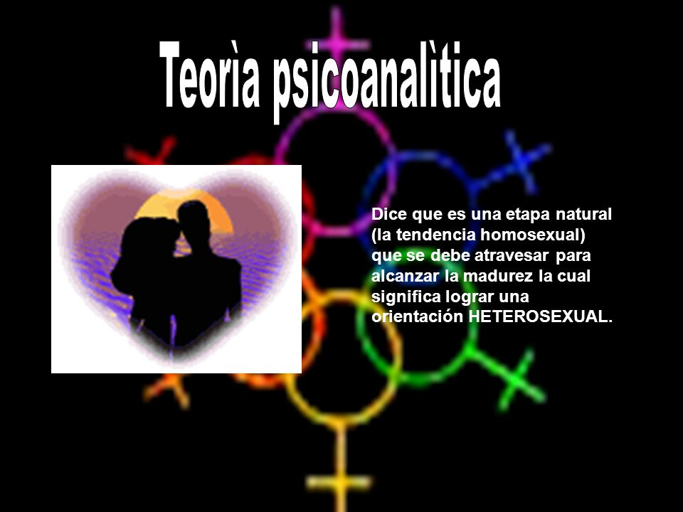 Dice que es una etapa natural (la tendencia homosexual) que se debe atravesar para alcanzar la madurez la cual significa lograr una orientación HETERO