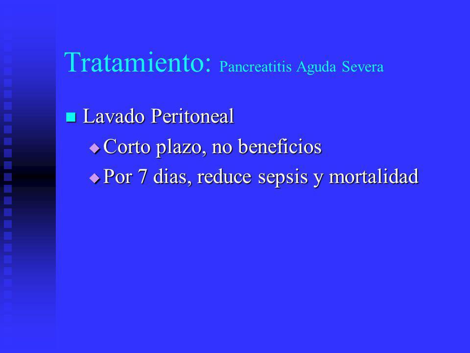 Tratamiento Quirúrgico: Pancreatitis Aguda Grave ACEPTADASCONTROVERTIDAS Dx.