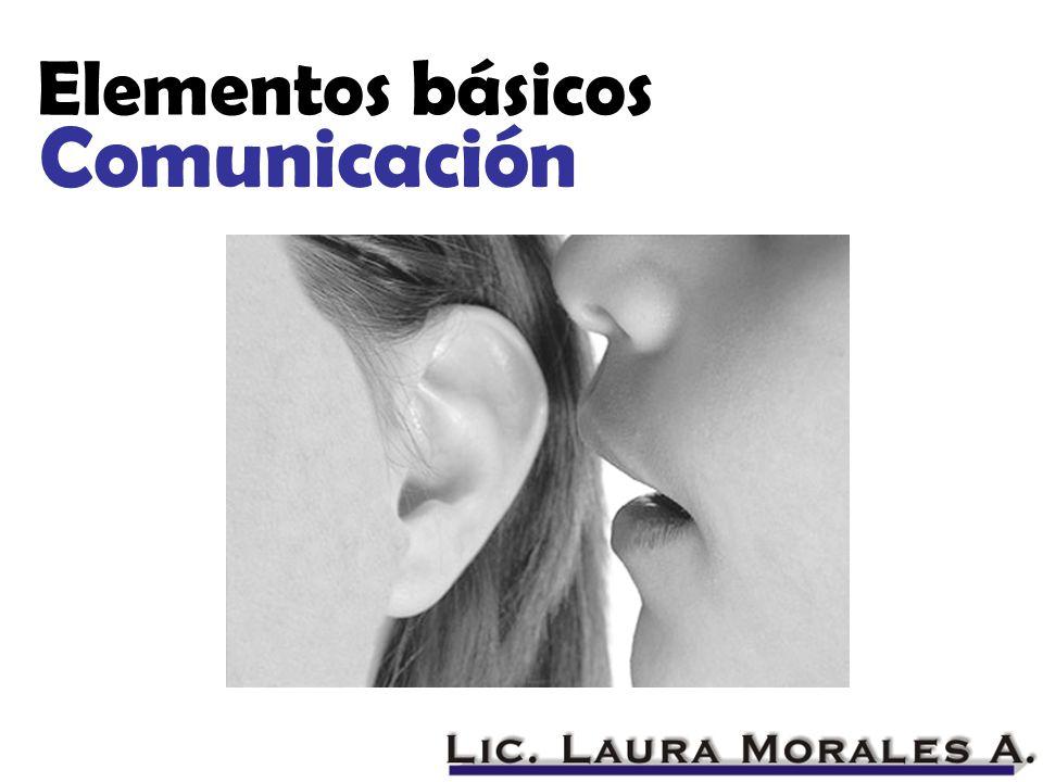 Comunicación Elementos básicos