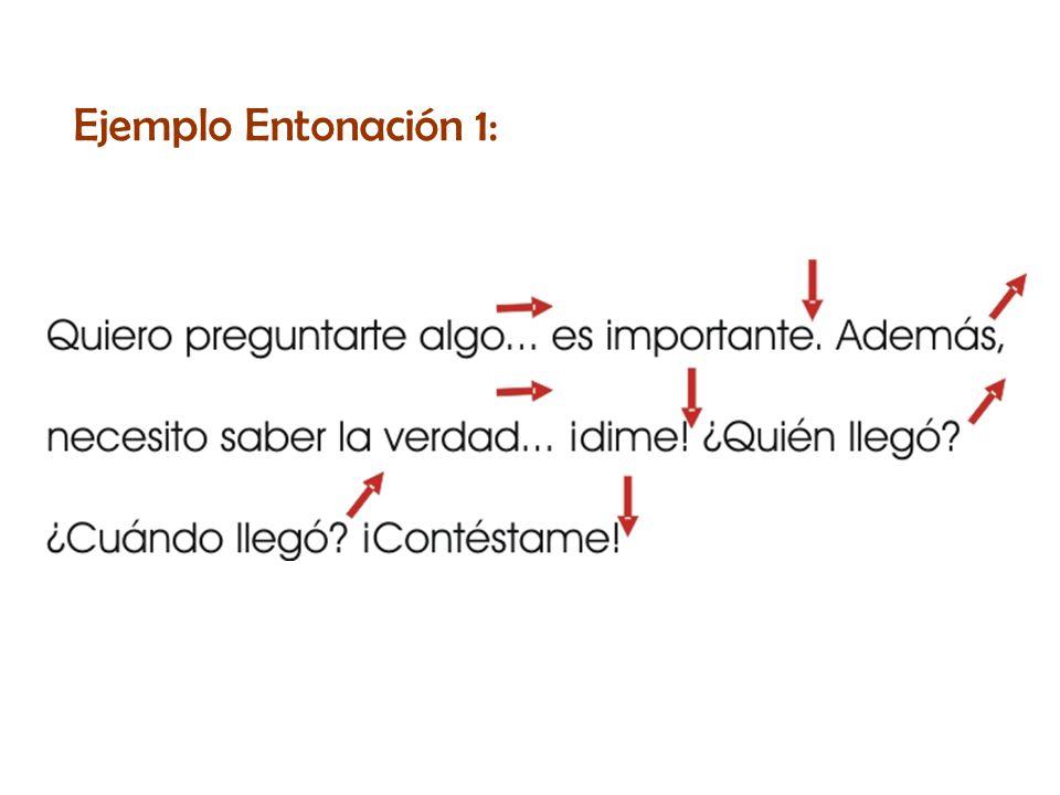 Ejemplo Entonación 1: