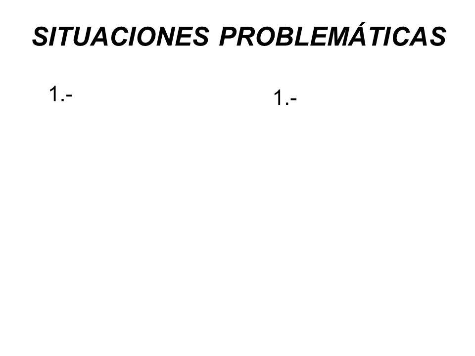SITUACIONES PROBLEMÁTICAS 1.-