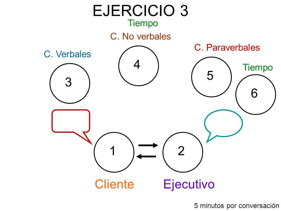 EJERCICIO 3 Cliente 12 3 4 5 Ejecutivo C.Verbales C.