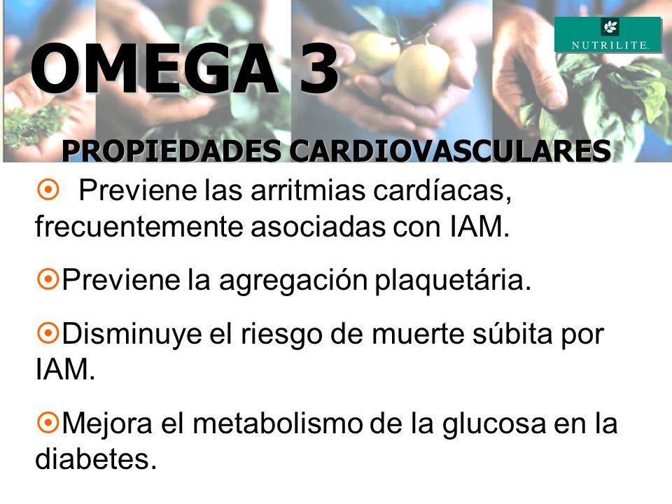 ¤ Reduce los niveles de colesterol (LDL) y aumenta los niveles de colesterol bueno (HDL). Reduce niveles de triglicéridos. ¤ Bloquea el daño causado a