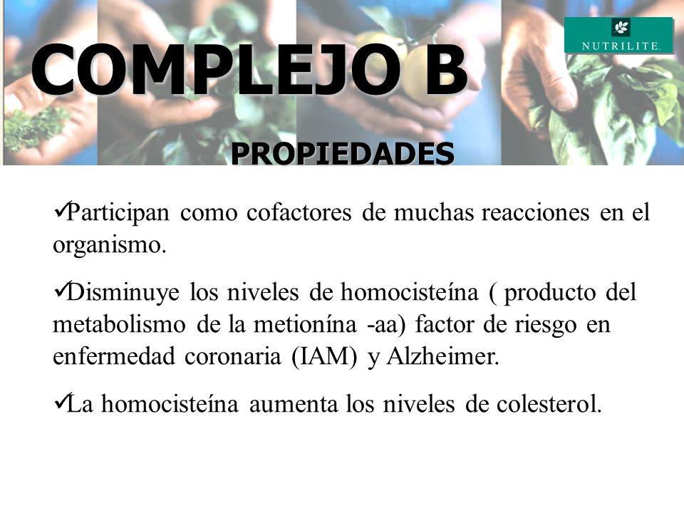 COMPLEJO B COMPLEJO B DE NUTRILITE