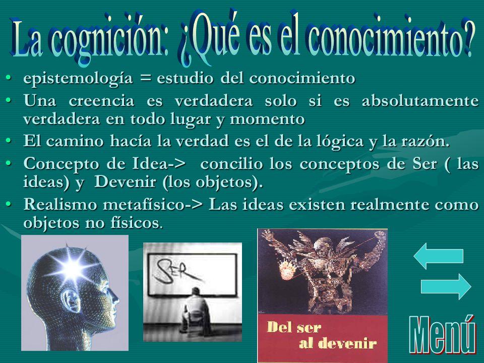epistemología = estudio del conocimientoepistemología = estudio del conocimiento Una creencia es verdadera solo si es absolutamente verdadera en todo