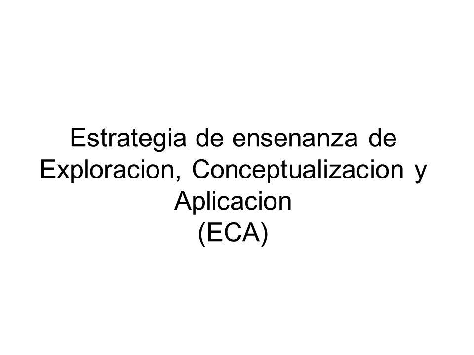ECA Es el medio de ensenanza general que el Departamento de Educacion ha adoptado para propiciar el desarrollo del pensamiento y con ello un mejor aprovechamiento academico y preparacion para la vida.