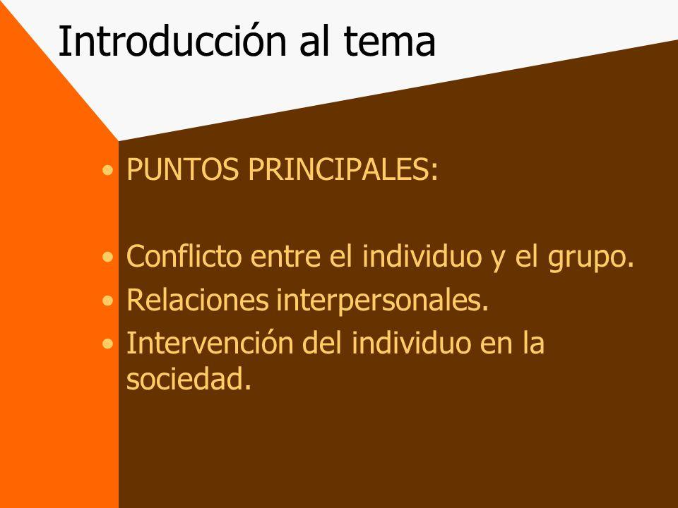 Puntos principales La psicología social es la ciencia del conflicto entre el individuo y la sociedad La psicología social es la ciencia de los fenómenos de la comunicación y los fenómenos de la ideología Esta disciplina es una manera de analizar la conducta humana