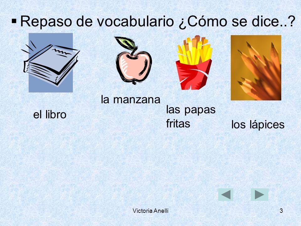 Victoria Anelli3 Repaso de vocabulario ¿Cómo se dice...