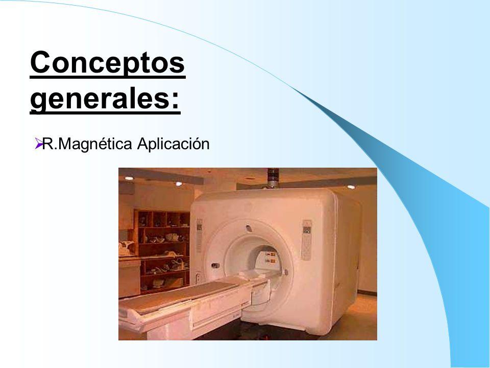 Conceptos generales: R.Magnética Aplicación