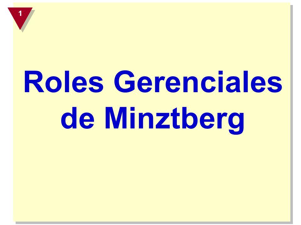 Roles de Decisión Roles que se refieren a asuntos en los que puede tomarse una decisión e intervenir.