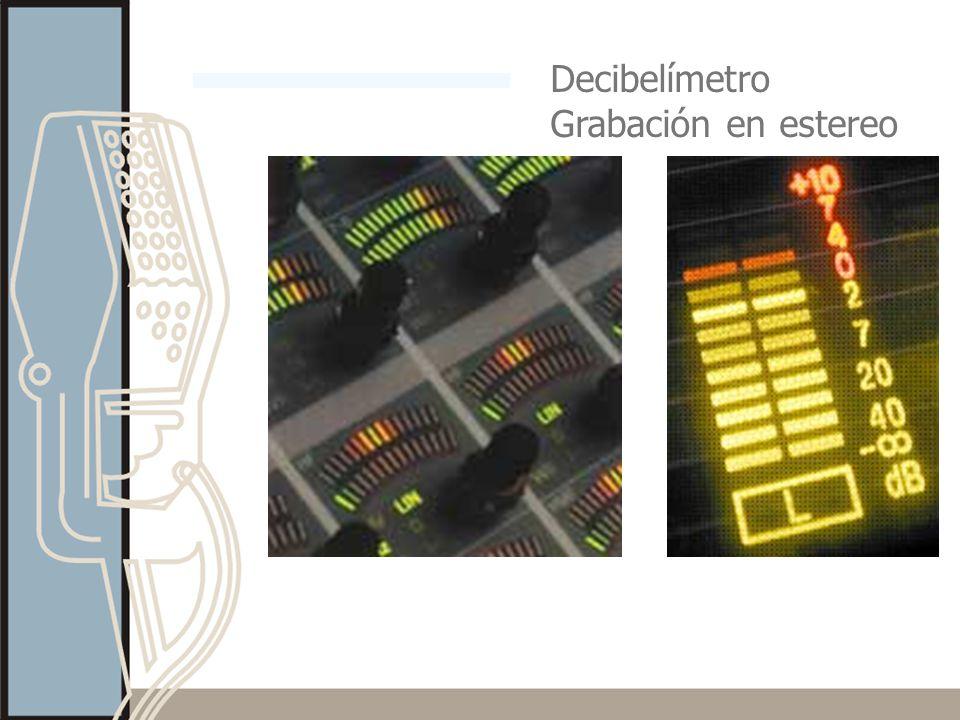 Decibelímetro Grabación en estereo