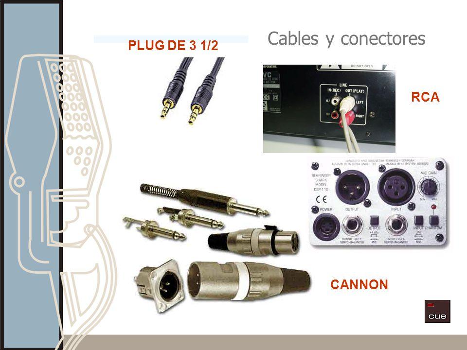 Cables y conectores RCA PLUG DE 3 1/2 CANNON