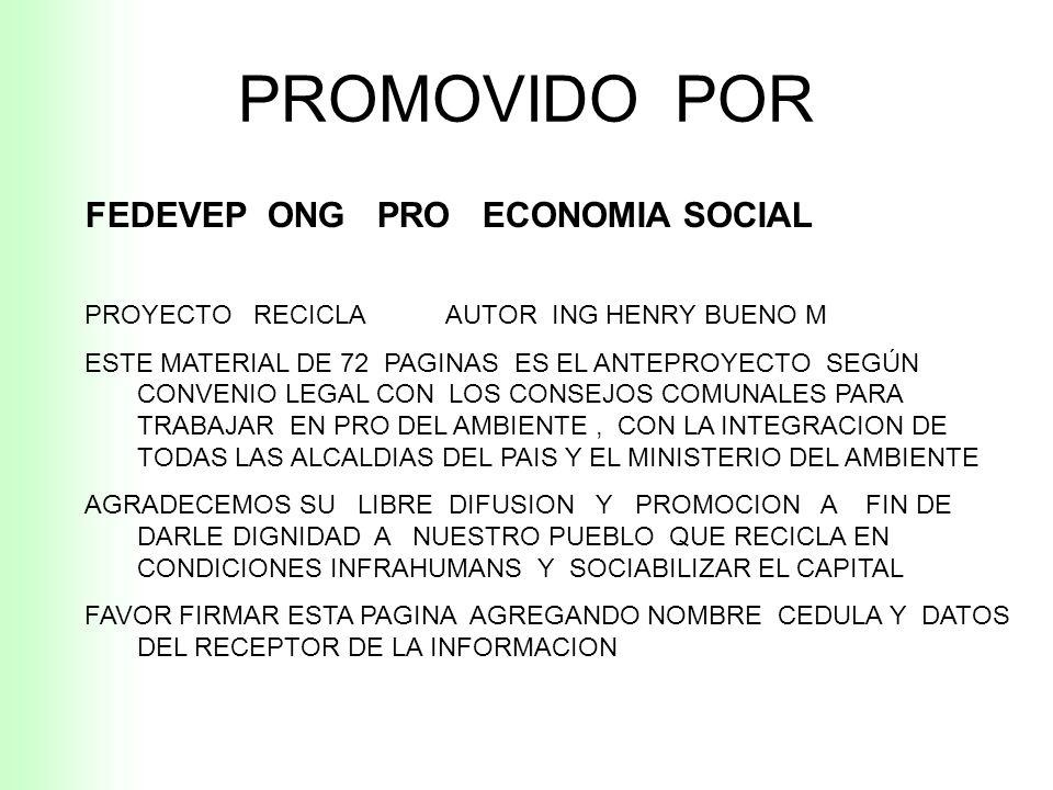 Propuesta Reciclaje de Residuos Sólidos Urbanos Propuesta Reciclaje de Residuos Sólidos Urbanos REPUBLICA BOLIVARIANA DE VENEZUELA AUTOR : ING HENRY B
