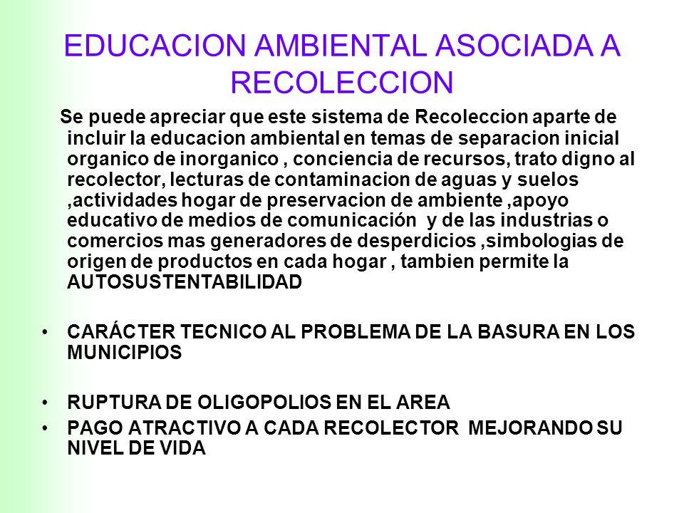 Variables de la RECOLECCION de Residuos Sólidos Urbanos Recolección Transporte POBLACION BASE MAPAS-Foto Satelite FACTOR GENERADOR MANZANAS RUTAS TONE