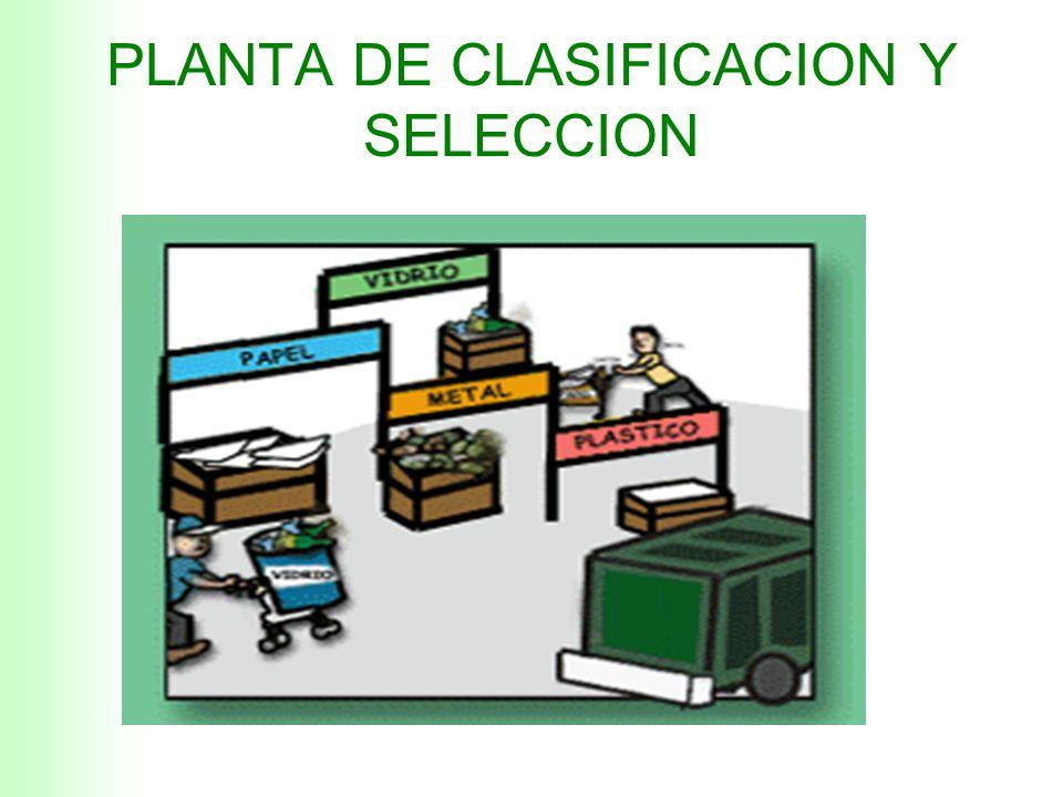 PLANTA DE CLASIFICACION Y SELECCION PARA NUESTRO MUNICIPIO PILOTO SE DEBEN FABRICAR 5 LINEAS DE TRABAJO DE ESTE TIPO AREA REQUERIDA PARA LINEAS DE SEL