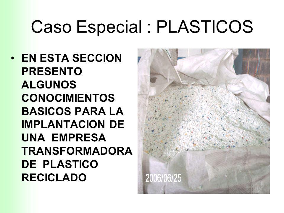 ANEXO RECICLA - S.U.R : CASO ESPECIAL : PLASTICOS ING HENRY BUENO M