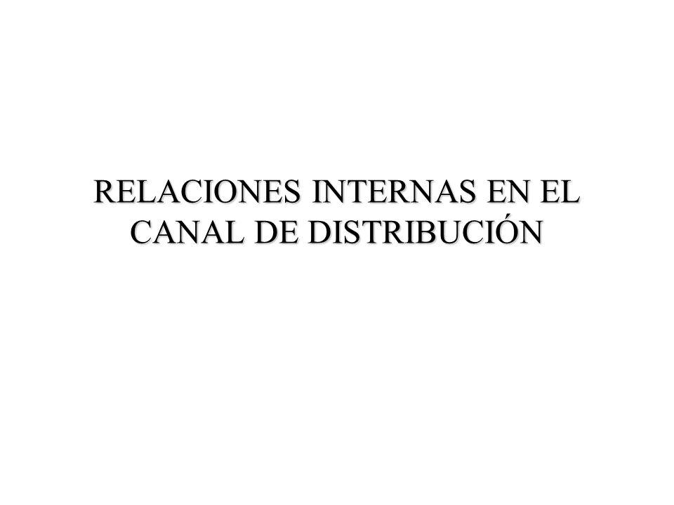 RELACIONES INTERNAS EN EL CANAL DE DISTRIBUCIÓN