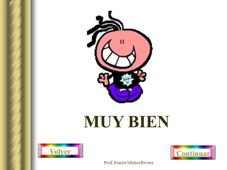 Prof. Eunice Muñoz Rivera MUY BIEN Continuar Volver
