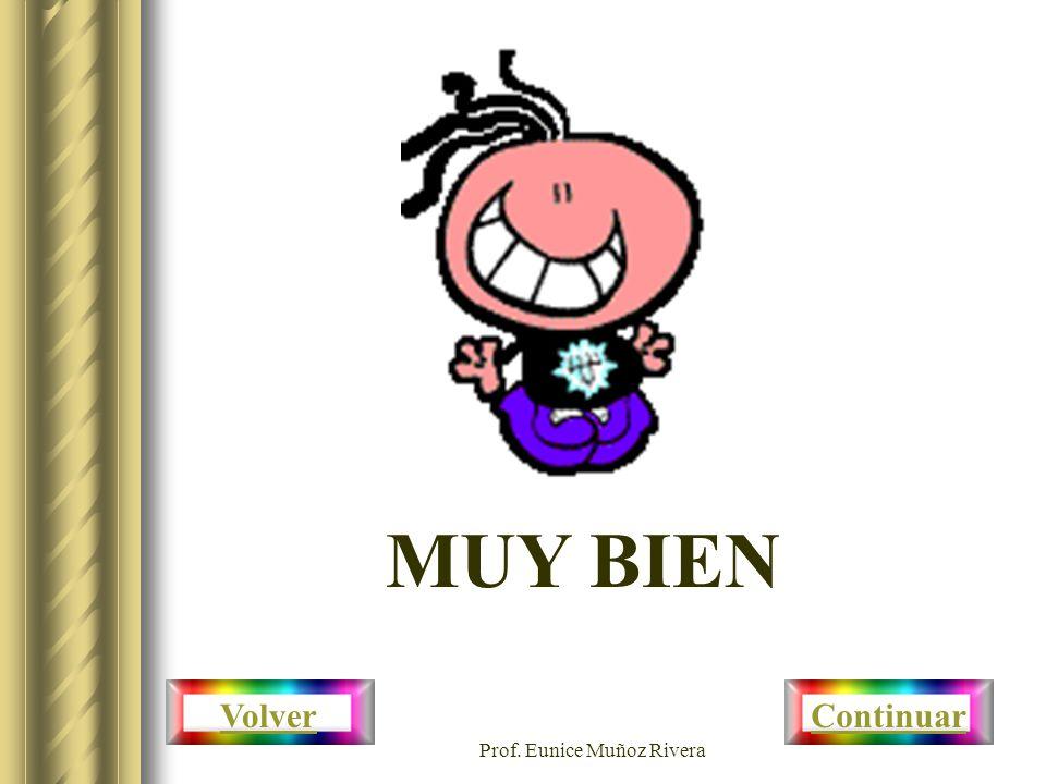 Prof. Eunice Muñoz Rivera MUY BIEN Volver Continuar