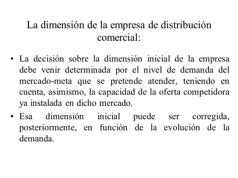 Con la acepción la dimensión técnica, nos referimos a la superficie dedicada al almacenamiento o a la venta del establecimiento comercial.