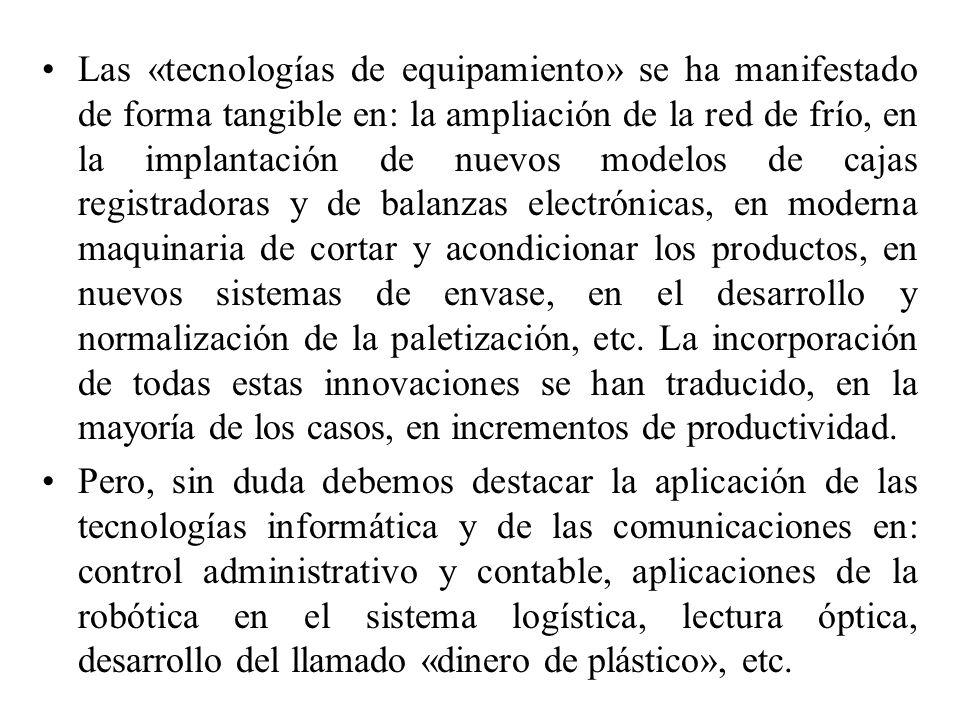 Por último, vamos a hacer referencia a la aplicación de innovaciones tecnológicas de carácter intangible que integran, en un claro ejemplo de sinergia positiva, el conjunto de innovaciones anteriormente comentadas.