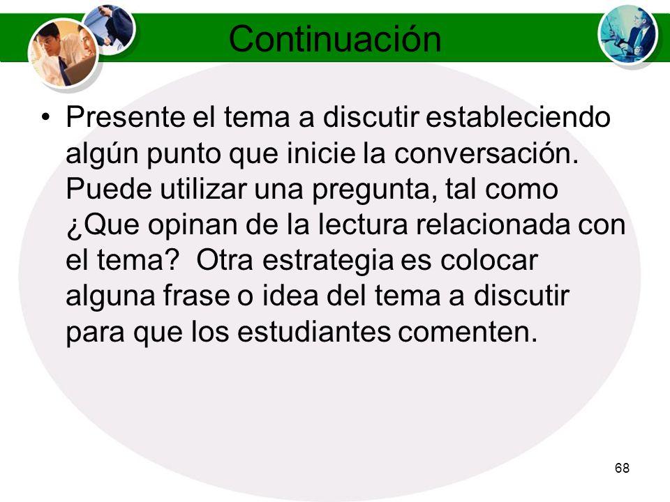 67 Manejo del Dialogo en los Salones Virtuales Sincronicos Trate de entrar al salón de dialogo correspondiente antes que lleguen sus estudiantes, de e