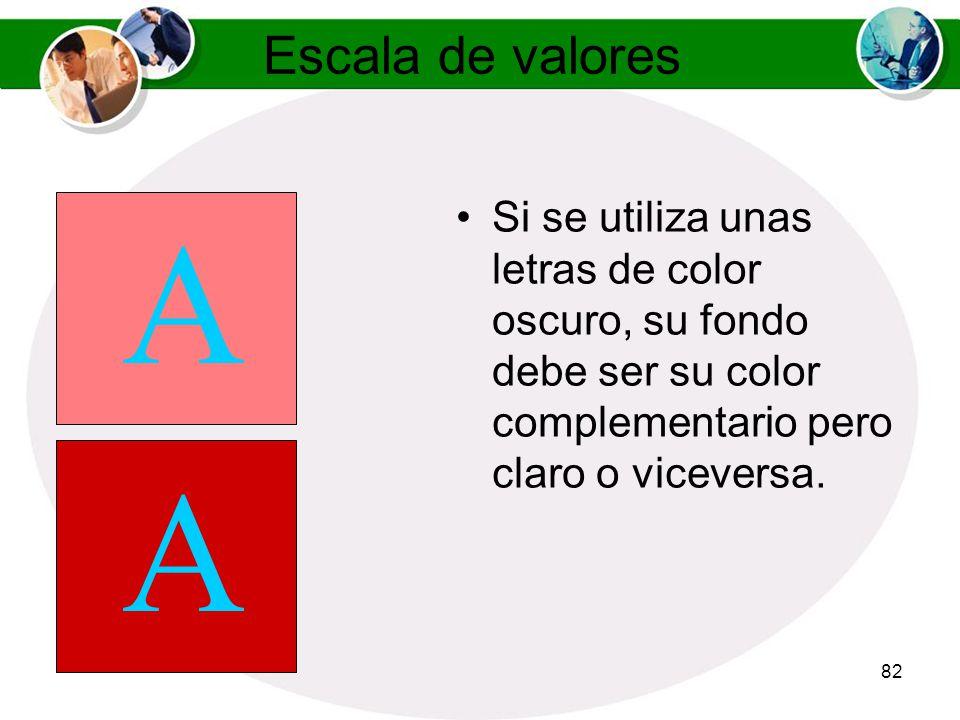 81 Reglas de Color Los colores complementarios son los que se encuentran en posiciones opuestas en la rueda de colores.