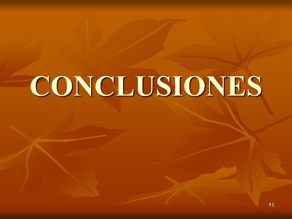 51 CONCLUSIONES