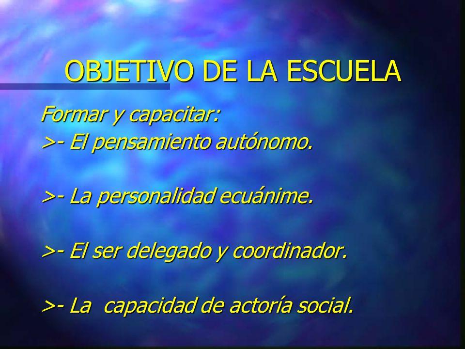 PRINCIPIOS EDUCATIVOS 1.- Creer en la versión de cada joven.