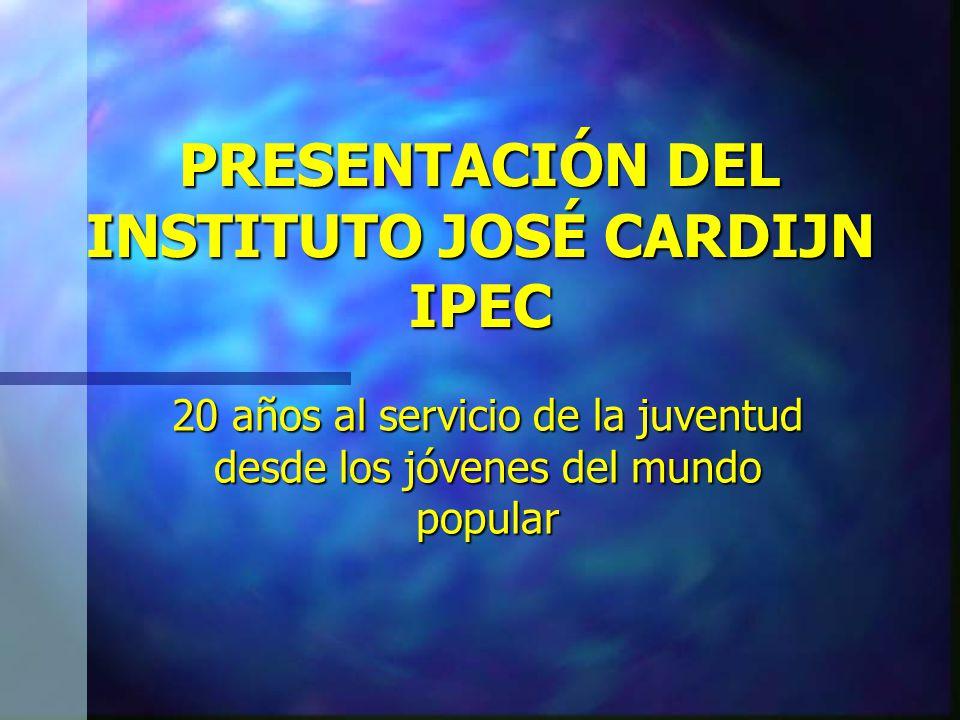 20 años Contribuyendo con la organización y formación de los jóvenes de barrio 1984 2004