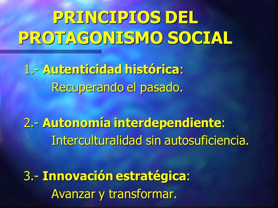 DISCURSOS MOVILIZADORES 1.- Liderazgo social: Algo cercano al neoliberalismo. 2.- Participación ciudadana: Entra al juego democrático... 3.- Protagoni