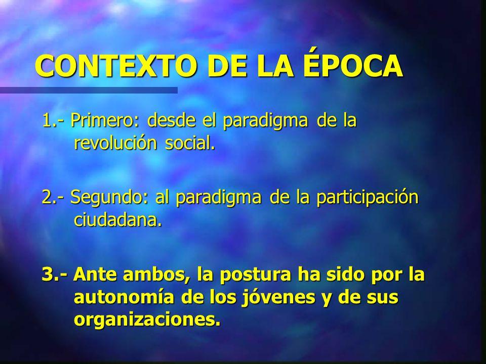 MISIÓN DEL IPEC 1.- Animar la gesta de movimientos juveniles.