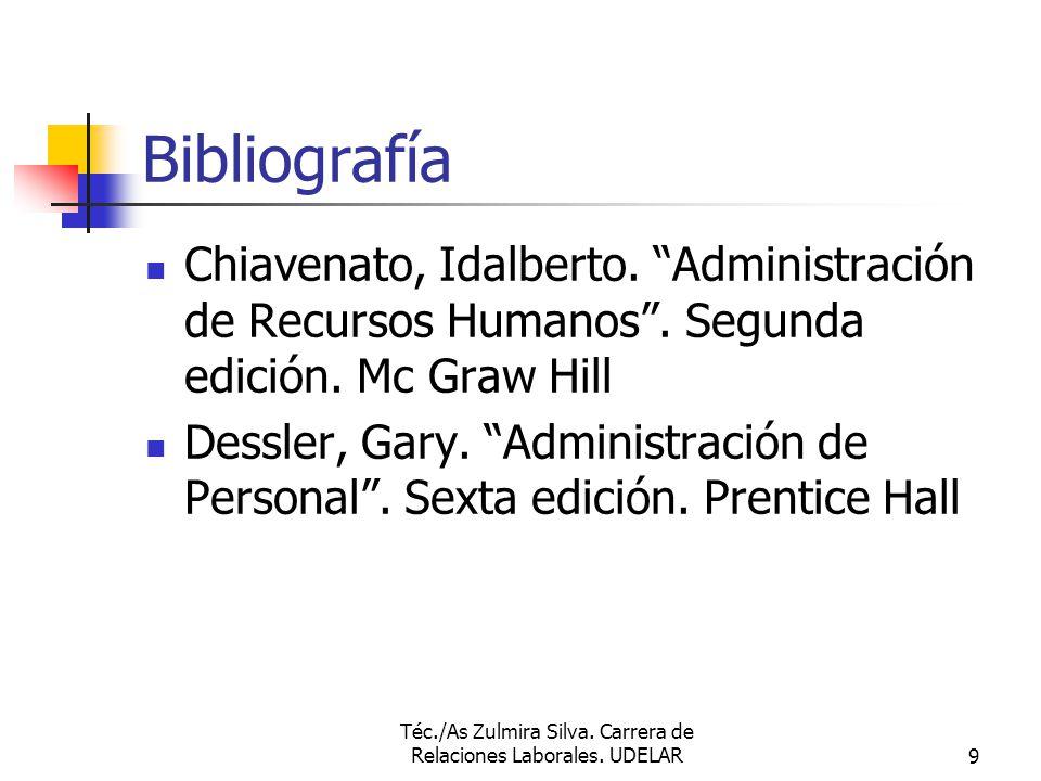 Téc./As Zulmira Silva.Carrera de Relaciones Laborales.