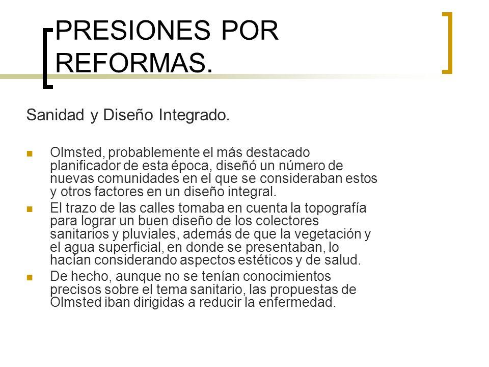 PRESIONES POR REFORMAS.Espacio Abierto Urbano.