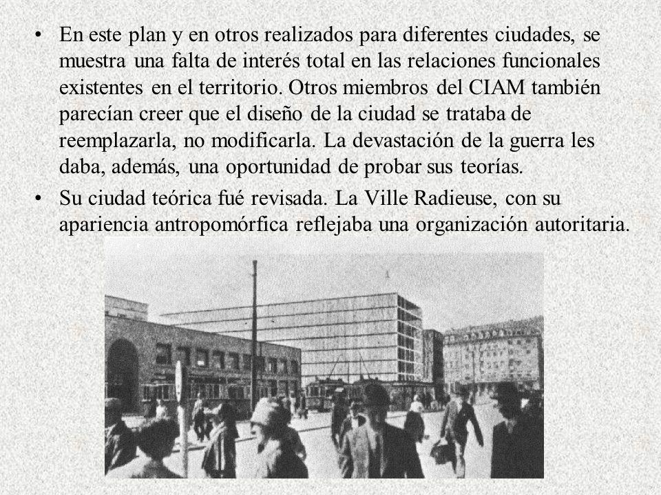 En este plan y en otros realizados para diferentes ciudades, se muestra una falta de interés total en las relaciones funcionales existentes en el terr