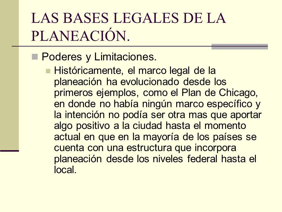 LAS BASES LEGALES DE LA PLANEACIÓN.Poderes y Limitaciones.