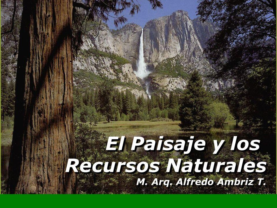 El Paisaje y los Recursos Naturales M. Arq. Alfredo Ambriz T. El Paisaje y los Recursos Naturales M. Arq. Alfredo Ambriz T.