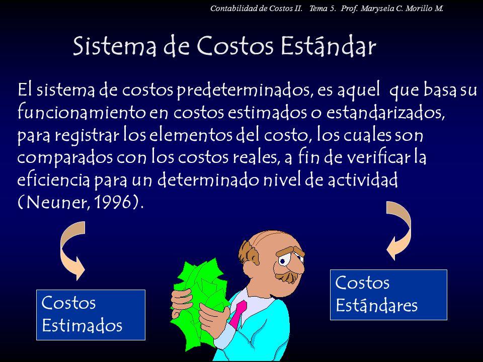 El sistema de costos predeterminados, es aquel que basa su funcionamiento en costos estimados o estandarizados, para registrar los elementos del costo
