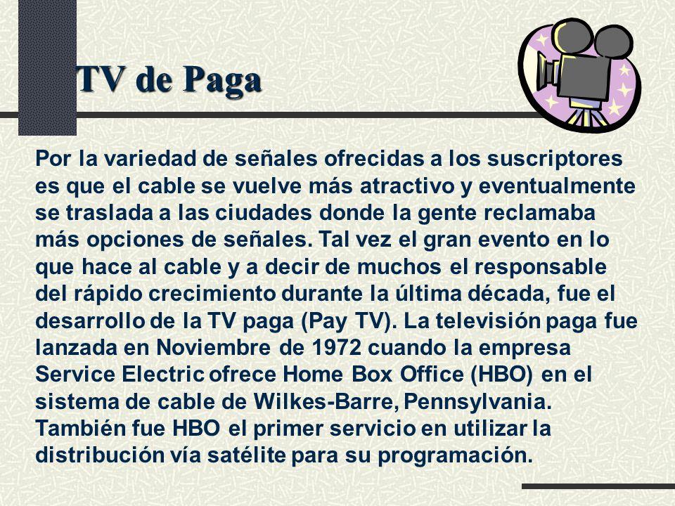 TV cable Algunos canales analógicos de T.V.